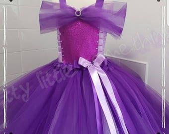 Purple tutu dress, purple princess dress, purple tutu, party dress, fancy dress, birthday dress, princess tutu dress