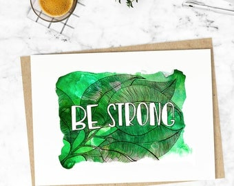 Positive decor. Watercolor painting. Art print. Poster print. Green print. Positive wall art. Style for your home.