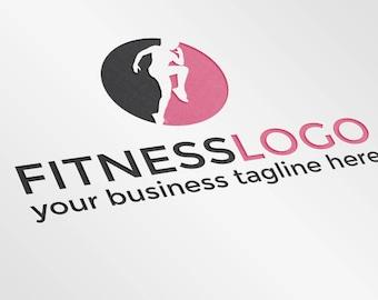 Premade Fitness Logo | Customizable Gym Logo Design | Workout Logo Design