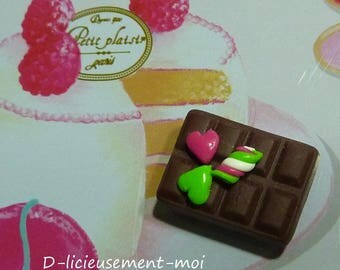 Magnet magnet hearts and polymer clay Marshmallow candy