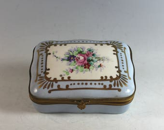 Amoges Hand Painted Porcelain Hinged Box