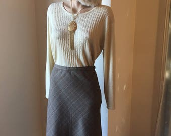 Gold knit top long sleeve