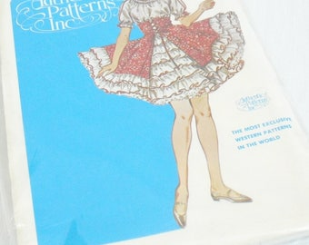 Vintage Ladies Western Square Dance Dress Pattern, Authentic Patterns, Multi Size Pattern, Promenade Pattern No 317, Swinging Skirt, Hoedown