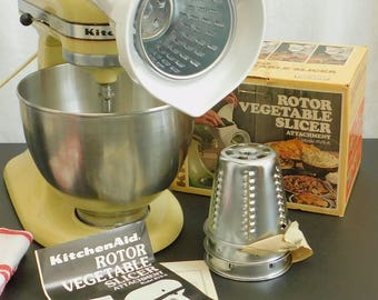 Vintage KitchenAid Rotor Food Vegetable Slicer Attachment, Cutter, Grater, Chopper, Home Canning, Food Processor, Prepper Survival Gadget