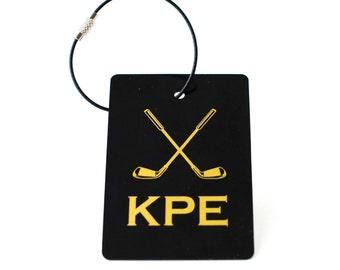 Golf Bag Tag - FREE SHIPPING, Golf Luggage Tag, Custom Bag Tags, Sports Gift, Golf Gift, Gift for Boy, Gift for Girl, Monogram Luggage Tag