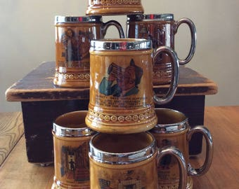 Lord Nelson collection ceramic beer mug steins sold individually