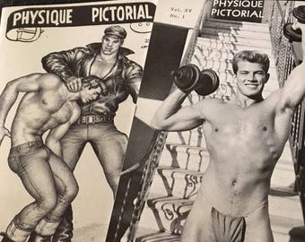 Two  Physique Pictorial magazine. This was know as one of the first gay magazines. Back in the 1950-1960s