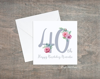 Personalised Birthday Card Happy 40th Fortieth Special For