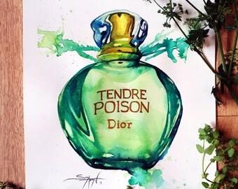 Dior Tendre Poison | Original Watercolour