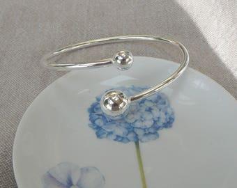 """Silver flexible bracelet """"Balls"""""""