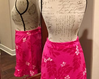 Golf Skirt - Pink Hawaiian R1 Skirt (Size 10)
