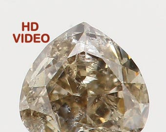 0.15 Ct Natural Loose Diamond Cut Heart Shape Brown Color 3.30X3.20X1.90 MM I1 Clarity N5392