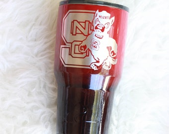 Valentines Gift for Him / Ombre Powder Coated Ozark Trail / NC State Tumbler / READY to SHIP / 30oz Ozark Trail Tumbler / Gifts for Him