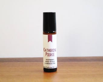 KATHERINE PIERCE / Raspberry Rose Petals & Hibiscus Tea / Book Inspired / Vampire Diaries Collection / Roll-On Perfume Oil