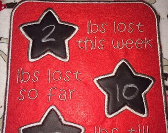 Hanging Weight Loss Chart, with Chalk