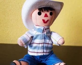 Traditional Mexican cloth doll, rag doll, articulated, Otomi, Mexican art, Hispanic doll, cloth dolls, fabric dolls, rag dolls