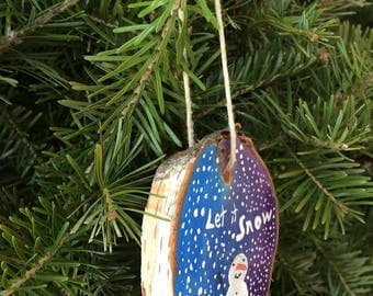 Painted Wooden Ornament