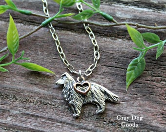 Collie Sheltie Necklace, Collie Sheltie Jewelry