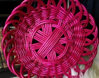 Pink Woven basket