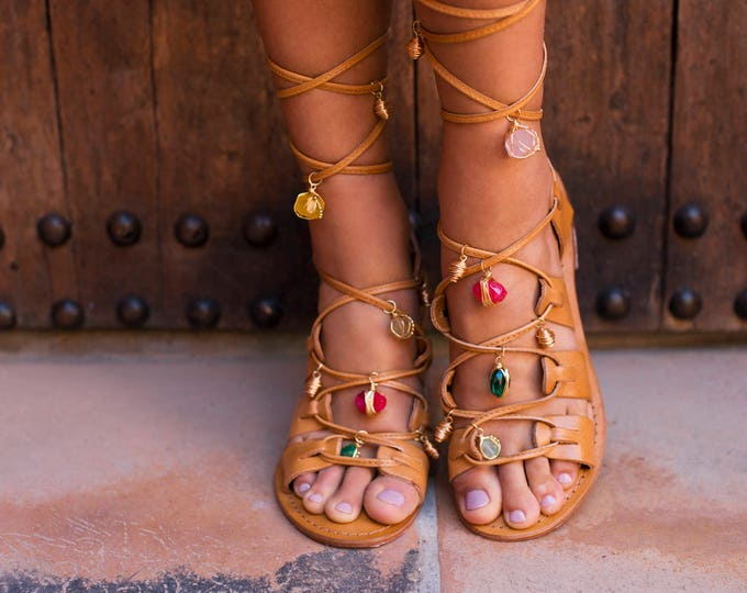 BAS x WFDN Posh Pom-pom sandals in Tan