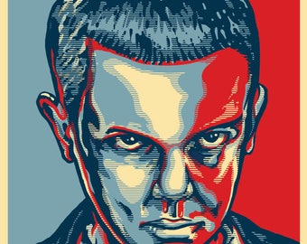 """ELEVEN 2020 """"HOPE"""" Style Election Posters - Stranger Things"""