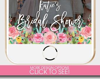 BRIDAL SHOWER SNAPCHAT Geofilter, Bridal Shower Snapchat Filter, Floral Snapchat Filter, Pink Snapchat Geofilter, Bridal Shower Tea Filter