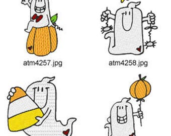 Chubby-Ghosts ( 7 Machine Embroidery Designs from ATW ) XYZ17H