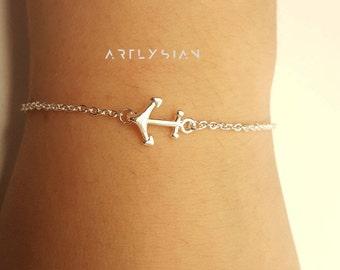 Anchor bracelet, Sailor bracelet, Sailing bracelet, marine bracelet, little anchors, tiny anchor, boat bracelet, anchor rope,nautic bracelet
