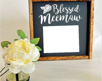 Blessed Grandmother Picture Frame Sign