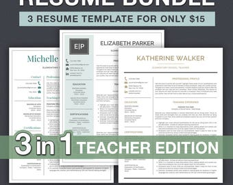 Teacher Resume Template for Word / Teacher CV Template | Teaching Resume Template | Resume for Teacher | Elementary Resume | Resume Template