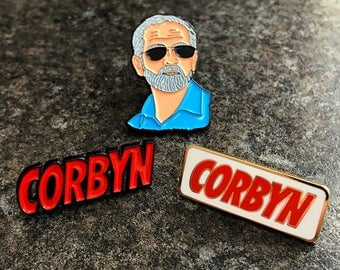 Jeremy Corbyn Labour Novelty Enamel Pin Badge | Labour Supporter Politics UK