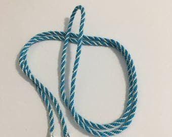 Lanyard / Necklace - Turquoise and White