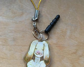 Soft Cream Rabbit Cellphone Charm