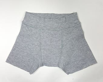Kids bamboo underpants, kids sensory smart underwear, grey, seamless underpants