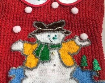 snowman snow Red Sweater
