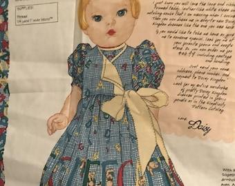 Alphabears Daisy Dolly Dress Fabric Panel