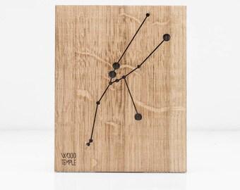 Taurus Constellation Wooden Picture ,Zodiac Constellation Wooden Picture, Wooden Picture, Stars