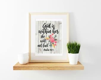 Psalm 46:5 Printable