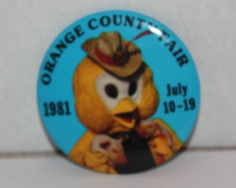Vintage Orange County Fair 1981 Pinback Button