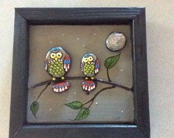 Stone art ... owls