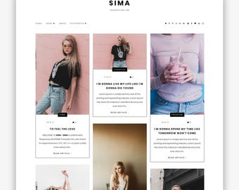 LIMITED! Sima | Responsive Minimalist Premade Blogger Template