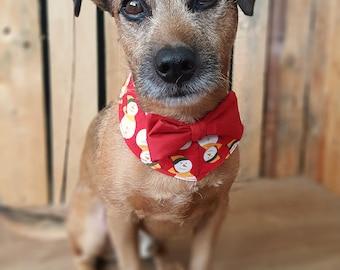 Christmas Dog Bandana, Christmas Dog Collar, Holiday Dog Bowtie, Christmas Dog outfit, Christmas Dog Clothes, Dog Party Outfit, Cute bandana