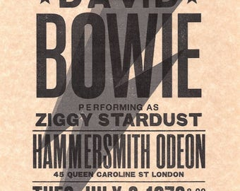 David Bowie > Performing As Ziggy Stardust 1973 London > Concert Poster/Replica