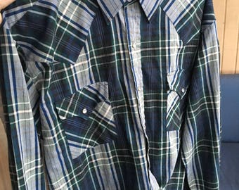 """Ely Plains Early 90's Vintage Western Shirt - XL size (18"""" neck)"""