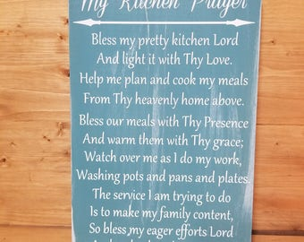 My Kitchen Prayer-Kitchen Decor