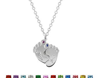 925 sterling silver personalized baby foot chain