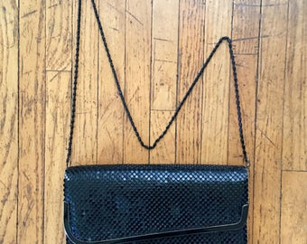 Jotta Black Mesh Clutch/Shoulder Bag. Vintage Handbag, Convertible Clutch, Excellent Condition