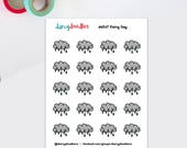 Rain storm stickers   rainy day stickers   weather stickers   doodle stickers   cute stickers   (DD347)