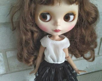 Blythe clothes Black skirt for Blythe