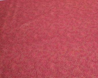 Scarlet and Gold Cotton Fabric from Hoffman Fabrics